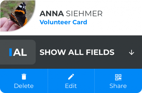 Annas Volunteer Card