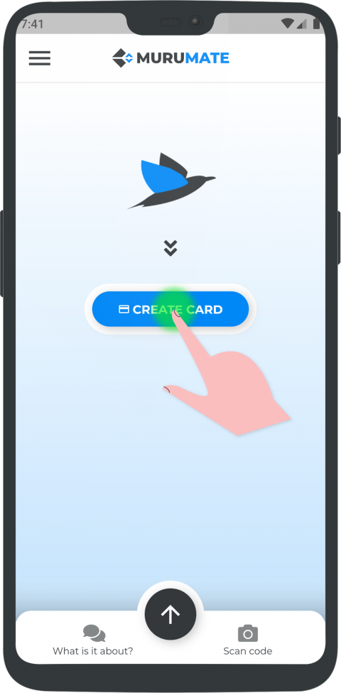 Tap on Create Card